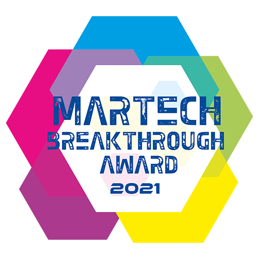 """Best Overall AdTech Solution of 2021"""" by MarTech Breakthrough Awards"""