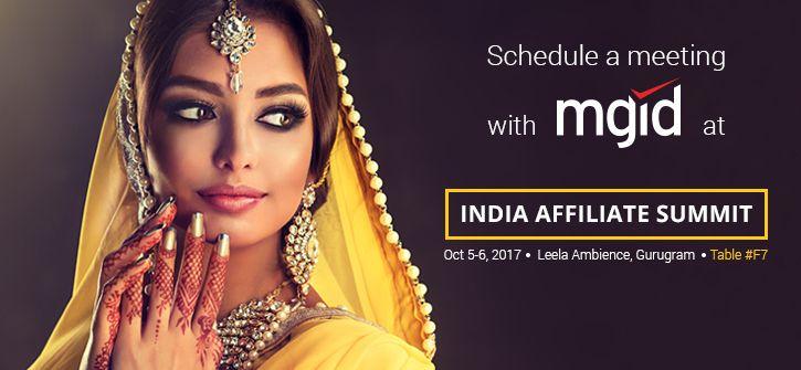 Meet MGID at India Affiliate Summit 2017